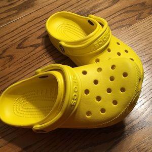 WORN ONCE!! Yellow crocs